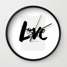 Love is a Beautiful Chaos Wall Clock
