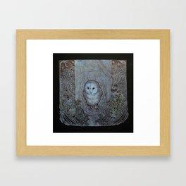 The Eyes of the Forest (Black) Framed Art Print