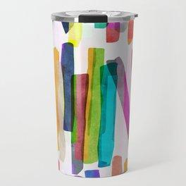Colorful Stripes 5 Travel Mug