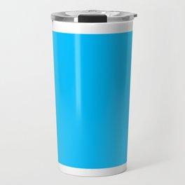 Blue Square Travel Mug