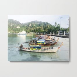 Water Taxi's in Thailand Metal Print