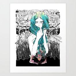 She Waded Art Print