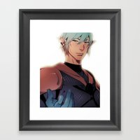 A Smile Better Suits A Hero Framed Art Print