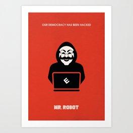 Mr Robot Alternative Poster - Hacking Art Print