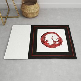 The Wyrm Turned Red Rug