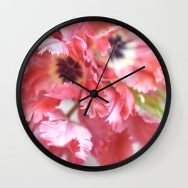 Flutter By Tulips Wall Clock