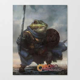 A knightly Frog  Canvas Print