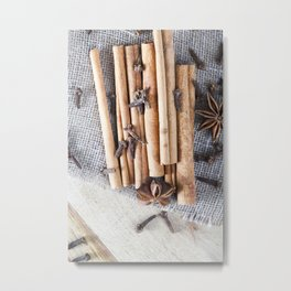 fragrant and fresh spices Metal Print