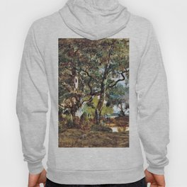 Forest Of Fontainebleau - Theodore Rousseau Hoody