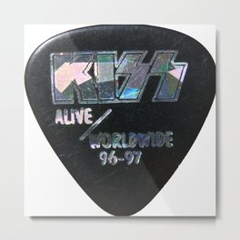 Tour Guitar Pick from concert Metal Print