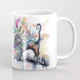 Punk Rock Skull Kitty Owns this City Coffee Mug