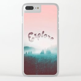 Explore the Wild. Wanderlust Clear iPhone Case