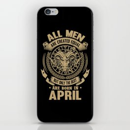 april iPhone Skin