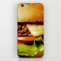 hamburger iPhone & iPod Skins featuring Hamburger by Mauricio Togawa