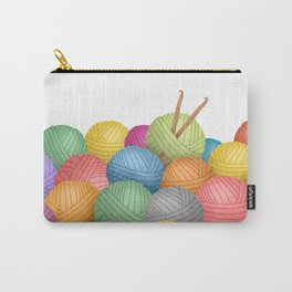 Two Crochet Hooks And A Lot Of Yarn Carry-All Pouch