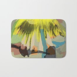 Yellow Contemplation Bath Mat