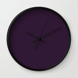 Dark Purple Violet Wall Clock