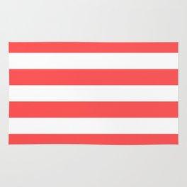 Coral Stripes Rug