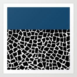 British Mosaic Navy Boarder Art Print