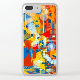 Portrait of man with beard Clear iPhone Case
