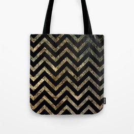 Brass Chevrons Tote Bag