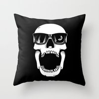 toothless Throw Pillows featuring Toothless by Magnus Snickars