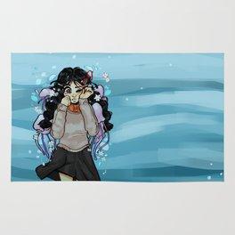 jellyfish otaku Rug