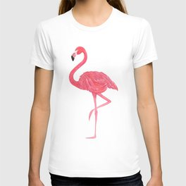 Flamingo fuchsia flap T-shirt