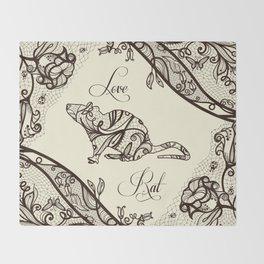 Love rat Throw Blanket