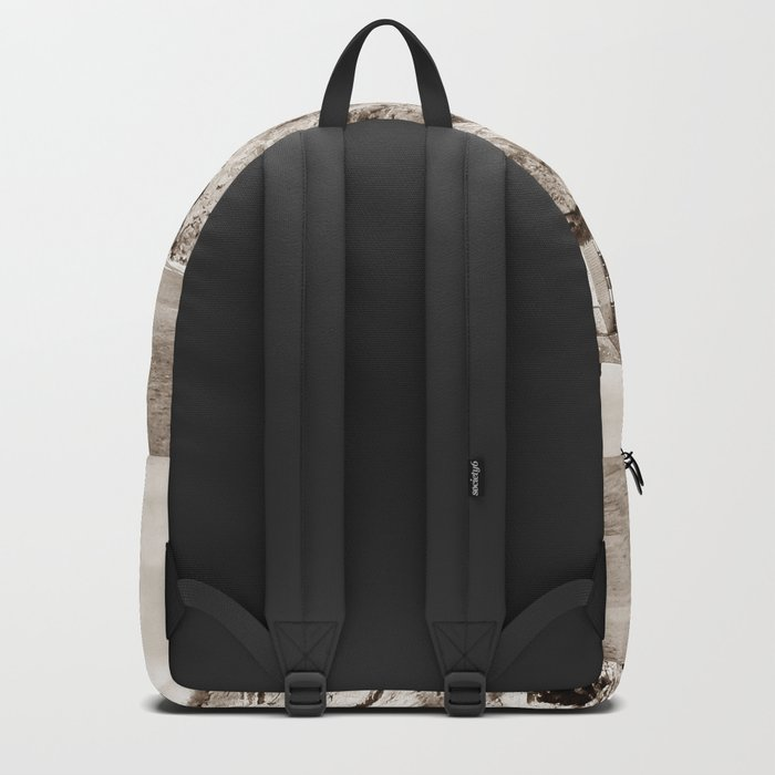 Big House on the Cliff panoramic Backpack