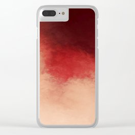 Pink Cherry Clear iPhone Case