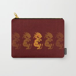 Golden Dragon Pattern Carry-All Pouch