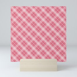 Nantucket Red and White Tartan Plaid Check Mini Art Print