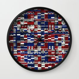 Simultaneous Love and Loathing (P/D3 Glitch Collage Studies) Wall Clock