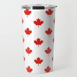 Large Tiled Canadian Maple Leaf Pattern Travel Mug