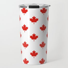 Large Tiled Canadian Maple Leaf Pattern Travel Mug