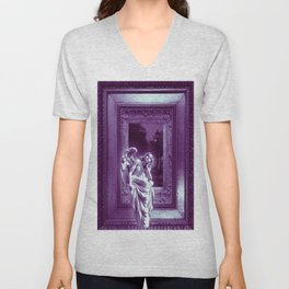 Angel of Bristol (Purple) Unisex V-Neck