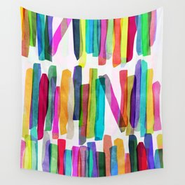 Colorful Stripes 5 Wall Tapestry