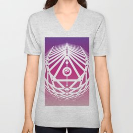Radiant Abundance (warm purple-white) Unisex V-Neck