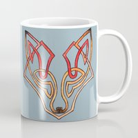 celtic Mugs featuring Celtic fox - celtic knot by Ioreth