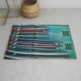 Surfboards at the Surf Shop Rug