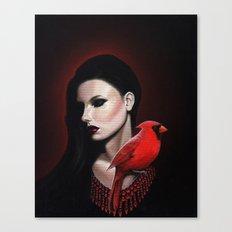 Dame Kardinal trois Canvas Print