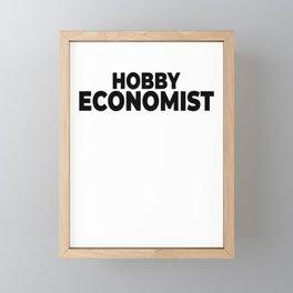 Hobby economist economy stocks chart Framed Mini Art Print
