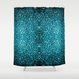 Beautiful Aqua blue glitter sparkles Shower Curtain