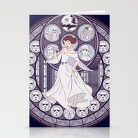 leia Stationery Cards featuring Leia by NicoleGrahamART