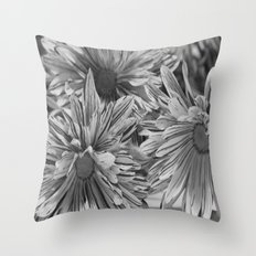 Flowers shadows Throw Pillow