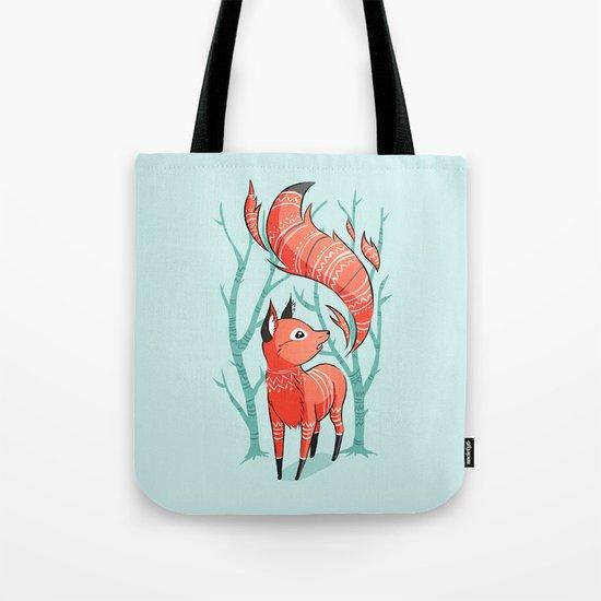 Winter Fox Tote Bag