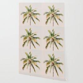 Palm tree - beige minimalist tropical photography in hd Wallpaper