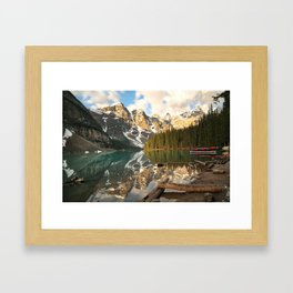 Calm Moraine Lake Framed Art Print