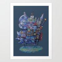 fandom Art Prints featuring Fandom Moving Castle by nokeek